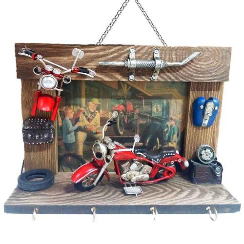 Porta-Chaves-Motocicleta-Vermelho-------------------------------------------------------------------