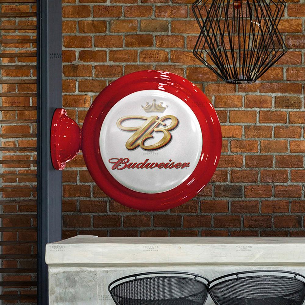 Luminaria-de-Parede-Budweiser-Vintage---------------------------------------------------------------