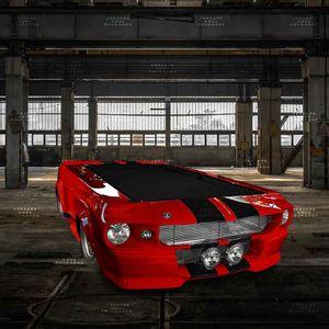Mesa-De-Bilhar-Mustang-New-York-World-s-Fair-Vermelho---Tecido-Preto