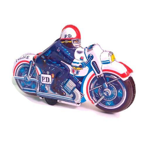 Motocicleta-Police-Lata-Litografada-1970