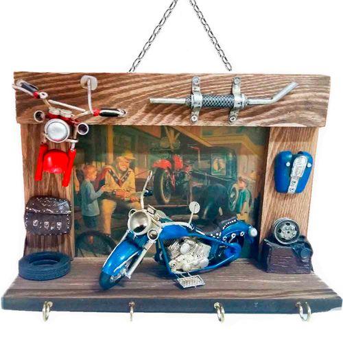 Porta-Chaves-Motocicleta-Azul