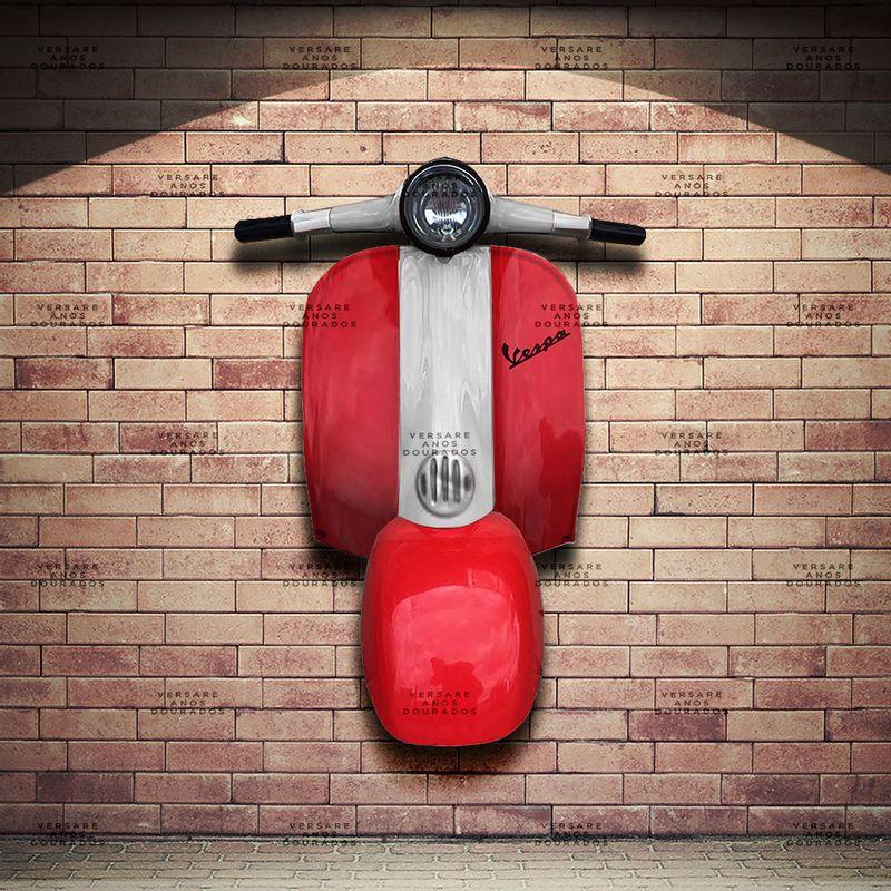 Frente-Vespa-Mods-Vermelho---Caixa-Traseira-Creme