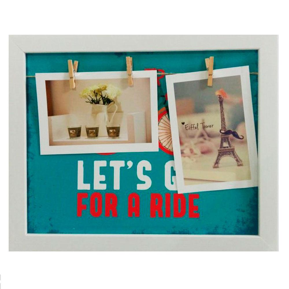 Quadro-Porta-Retrato-E-Porta-Recados-Memorias-Lets-Go-For-A-Ride