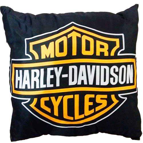 Almofada-Com-Enchimento-Harley-Davidson-Preta---Un