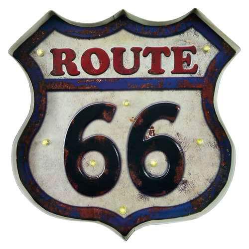 quadro-retro-led-route-66