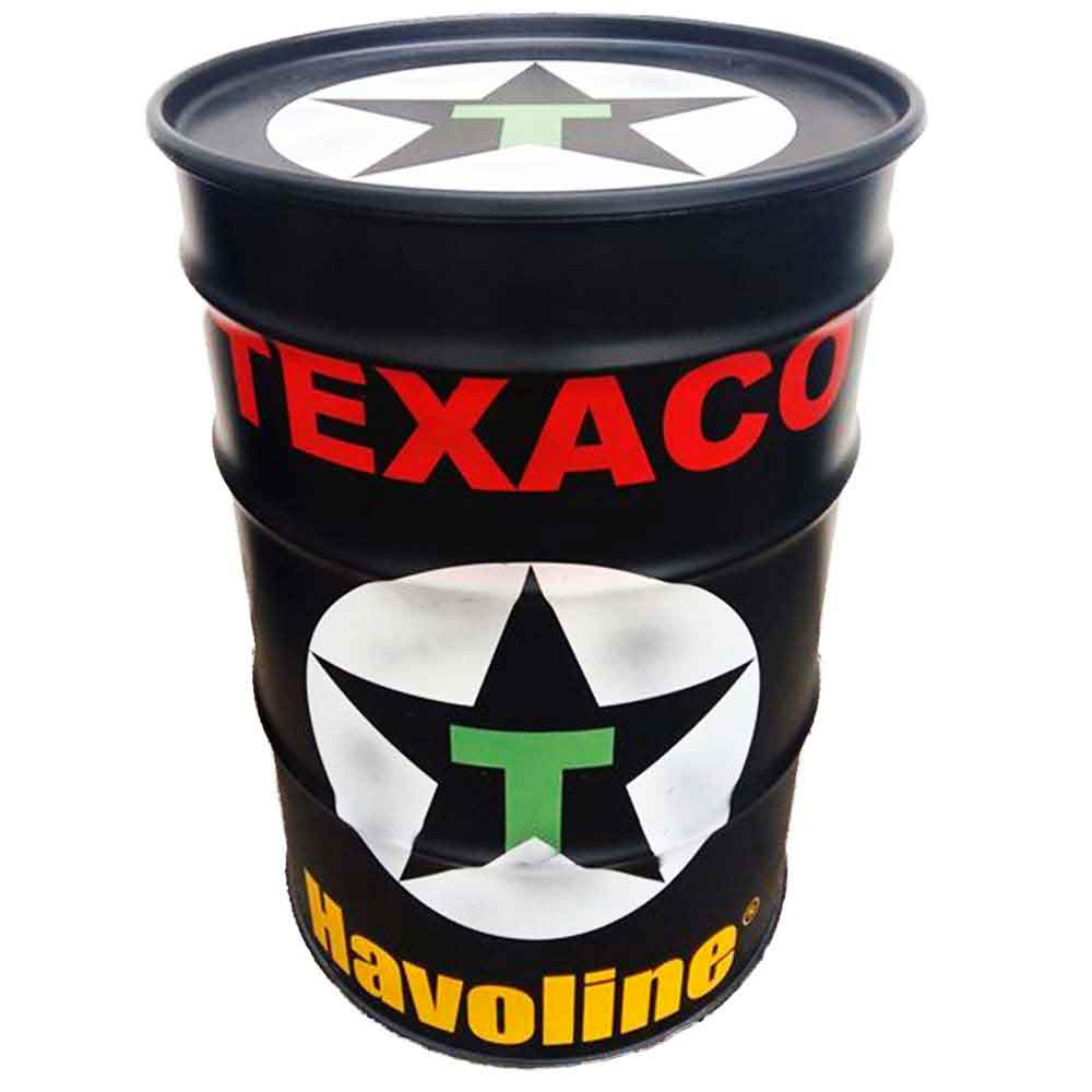 Tambor-Decorativo-Texaco-Preto-Vintage-Industrial
