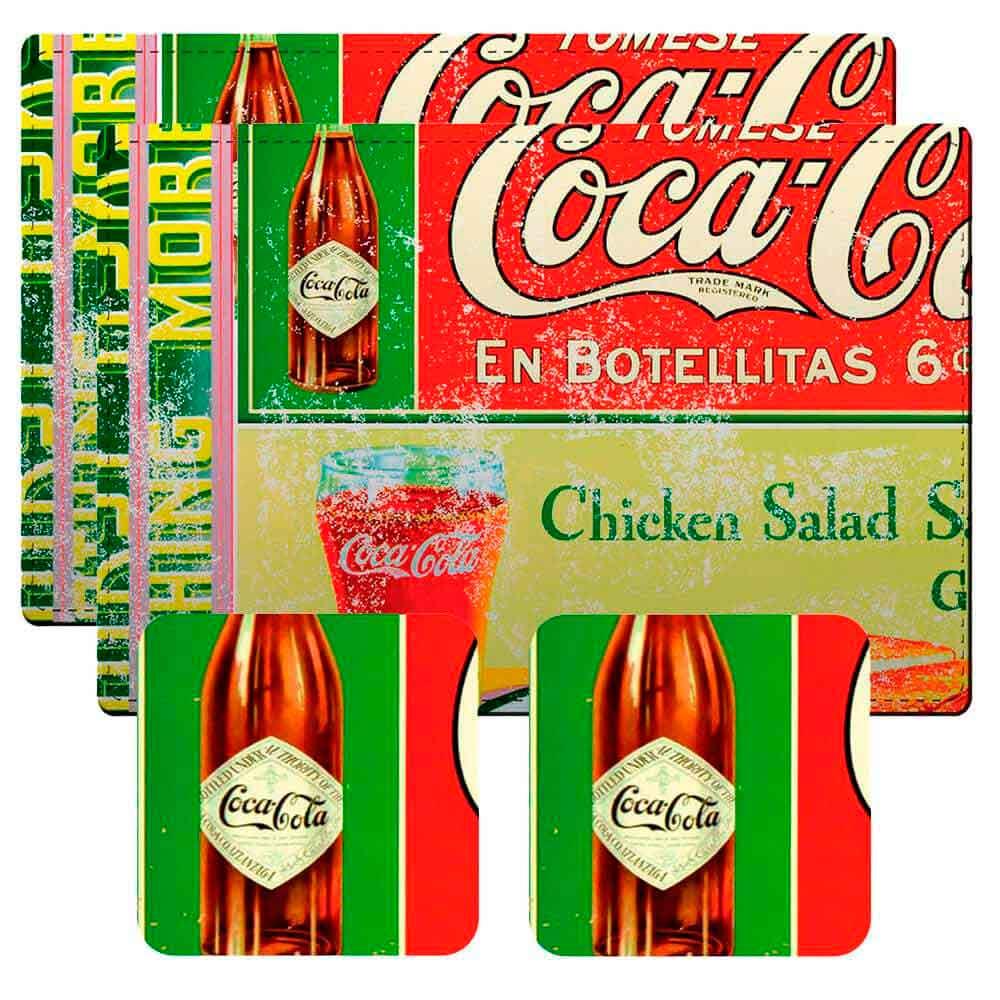Conj-2-Jogos-Americanos-Chicken-Salad-Coca-Cola-Retro