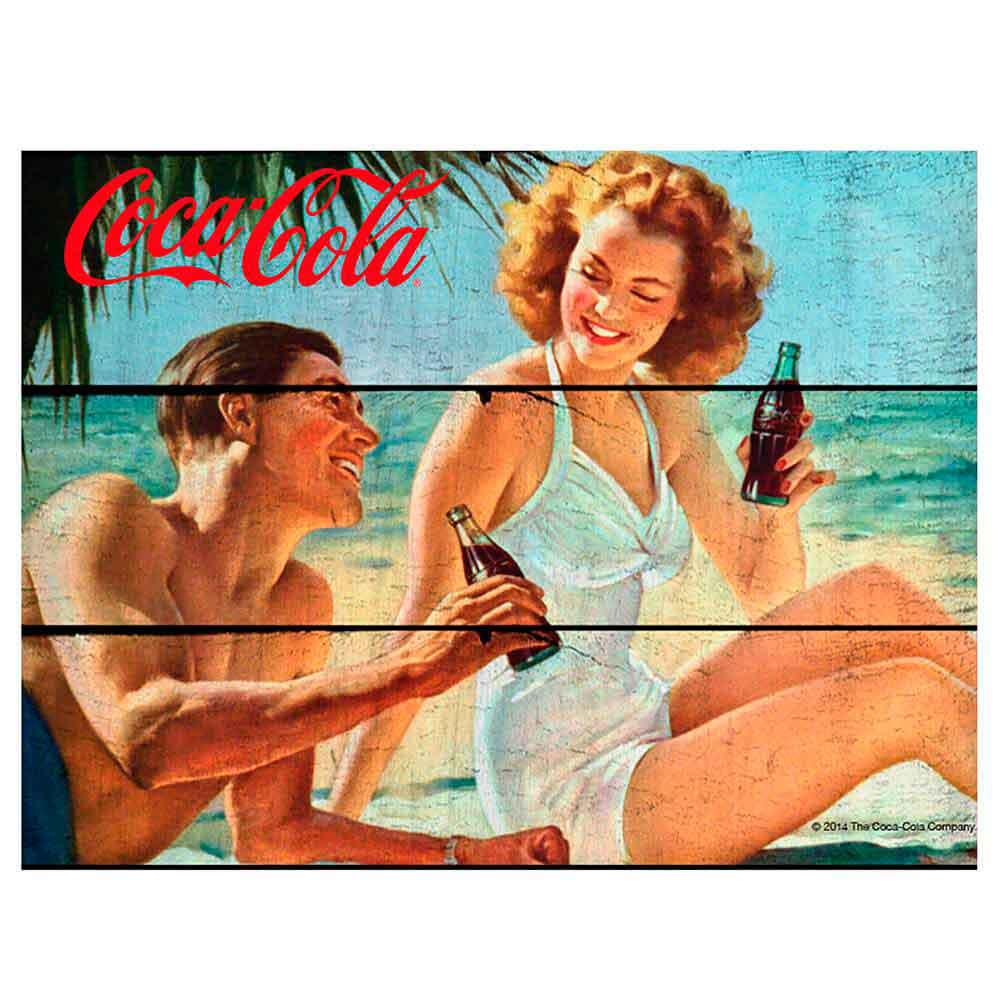 Placa-Madeira-Beach-Coca-Cola-Retro