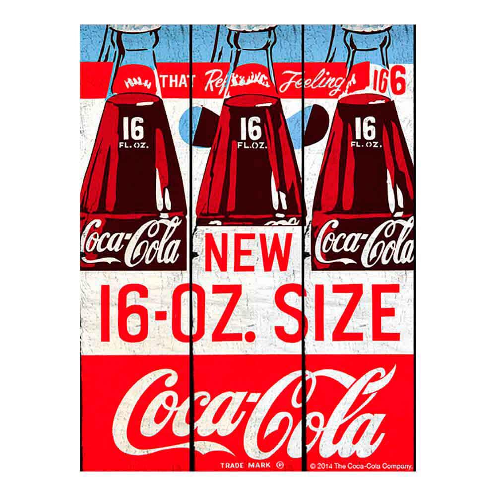 Placa-Madeira-Bottle-Coca-Cola-Retro