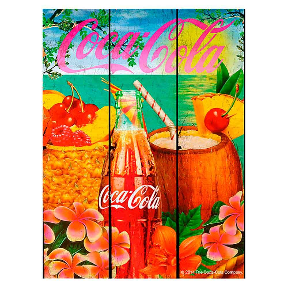 Placa-Madeira-Tropical-Flavor-Coca-Cola-Retro