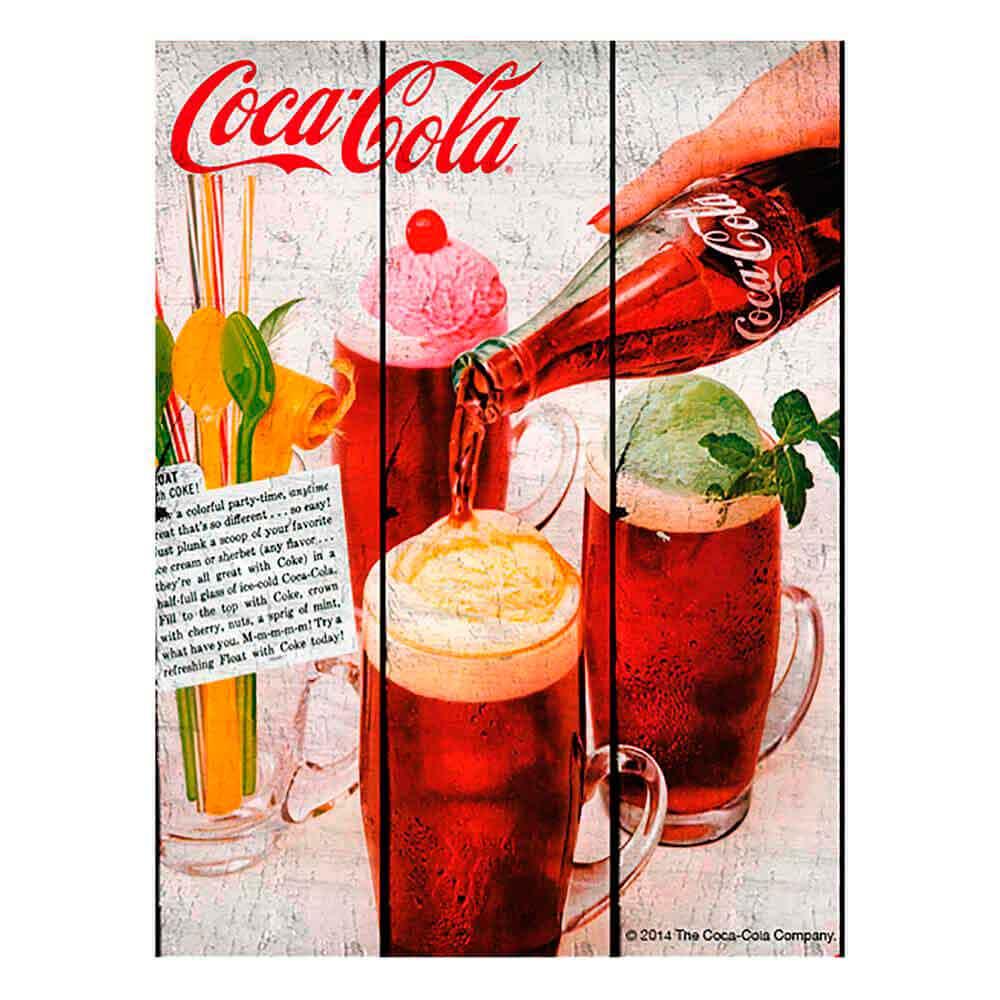 Placa-Madeira-Tropical-Ice-Cream-Coca-Cola-Retro
