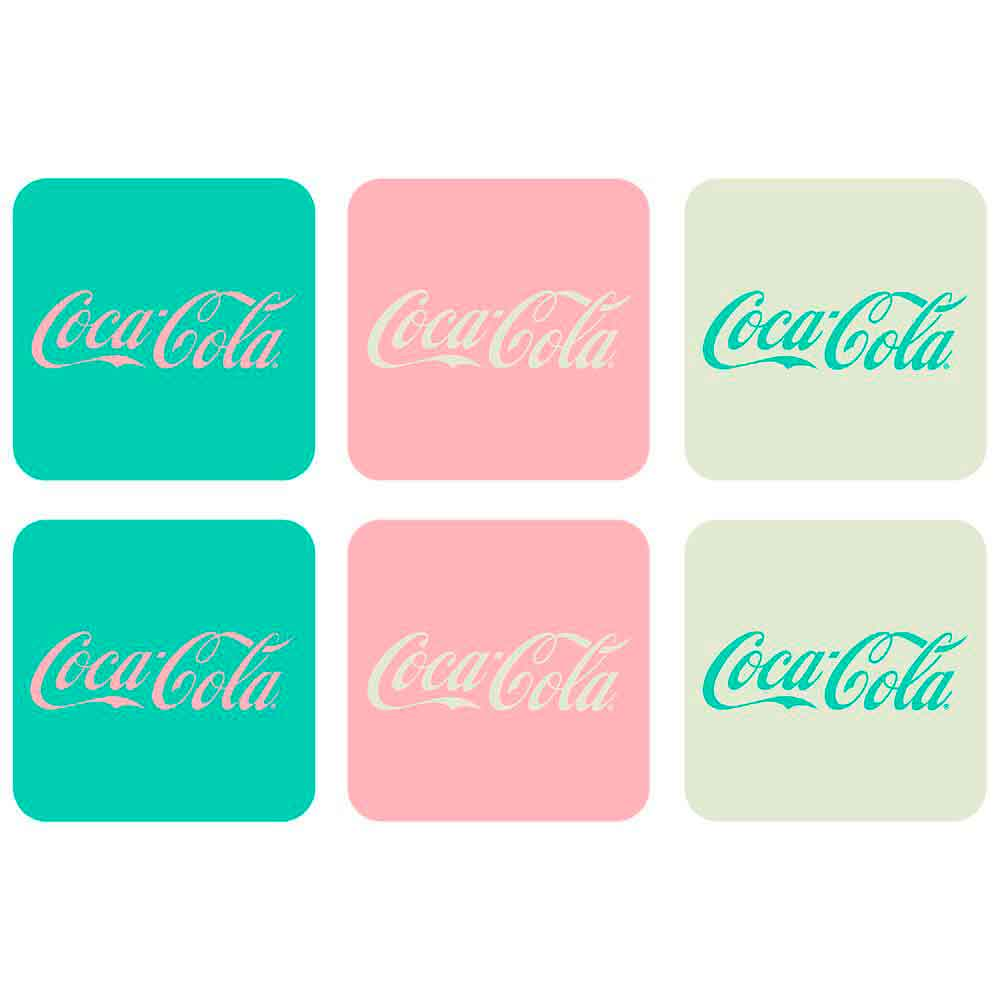 Porta-Copos-6-Pecas-Candy-Colors-Coca-Cola-Retro