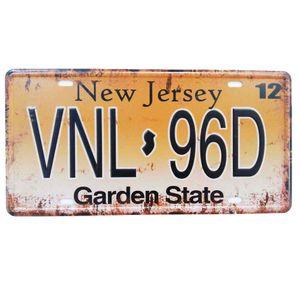 Placa-De-Carro-Decorativa-Em-Alto-Relevo-New-Jersey