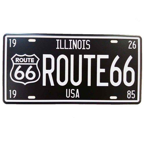 Placa-De-Carro-Decorativa-Em-Alto-Relevo-Illinois-Rota-66