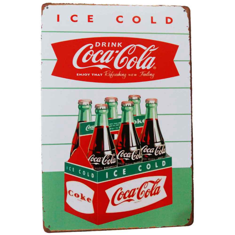 Placa-De-Metal-Decorativa-Coca-Cola-Enjoy-That-Vintage