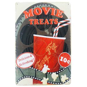 Placa-De-Metal-Decorativa-Movie-Treats