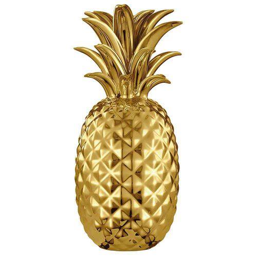 Abacaxi-Decorativo-Centro-De-Mesa-Dourado
