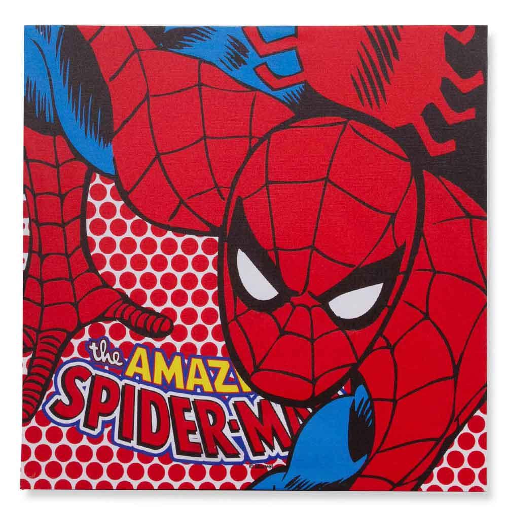 Quadro-Tela-Com-Led-Marvel-Homem-Aranha