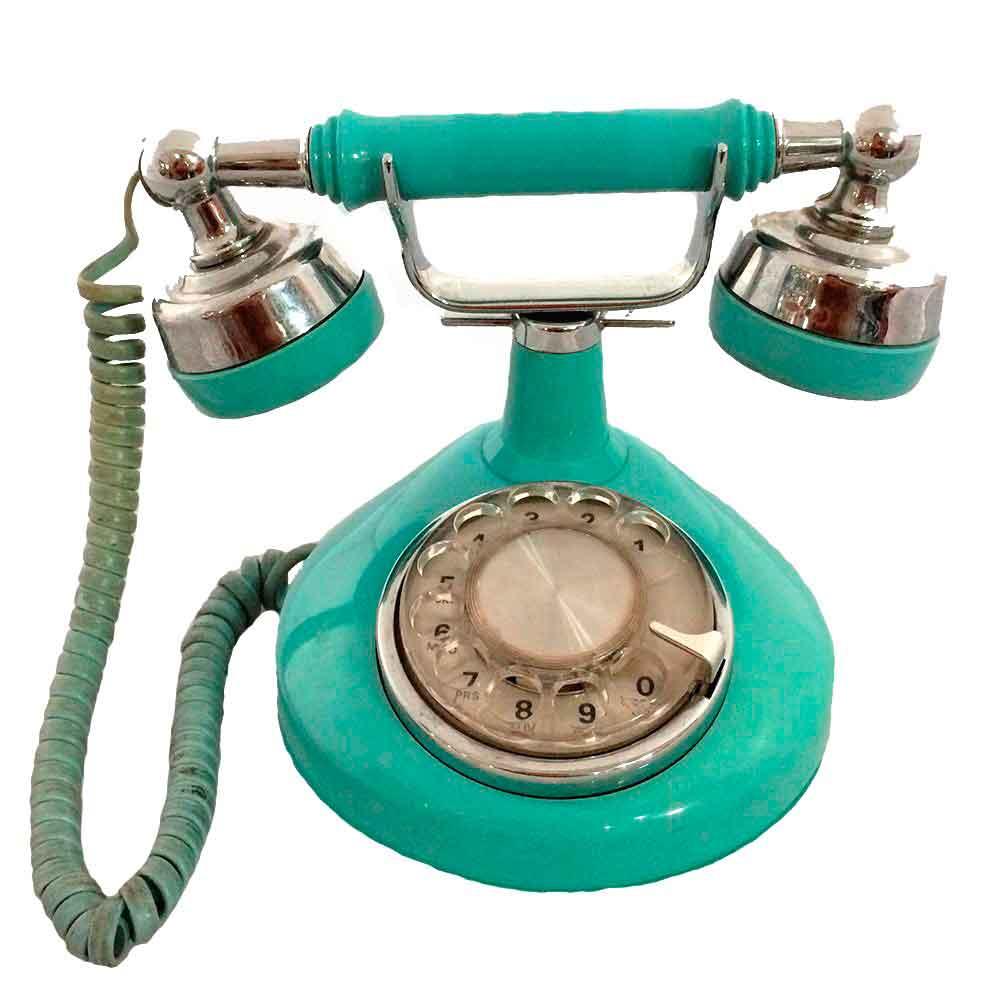 Telefone-De-Mesa-Antigo-Vintage-Azul-70-s
