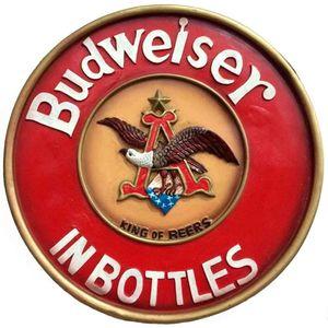 Placa-Budweiser-In-Bottles