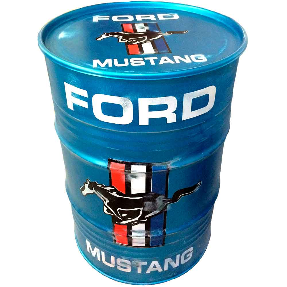 Tambor-Decorativo-Ford-Mustang-Vintage-Industrial