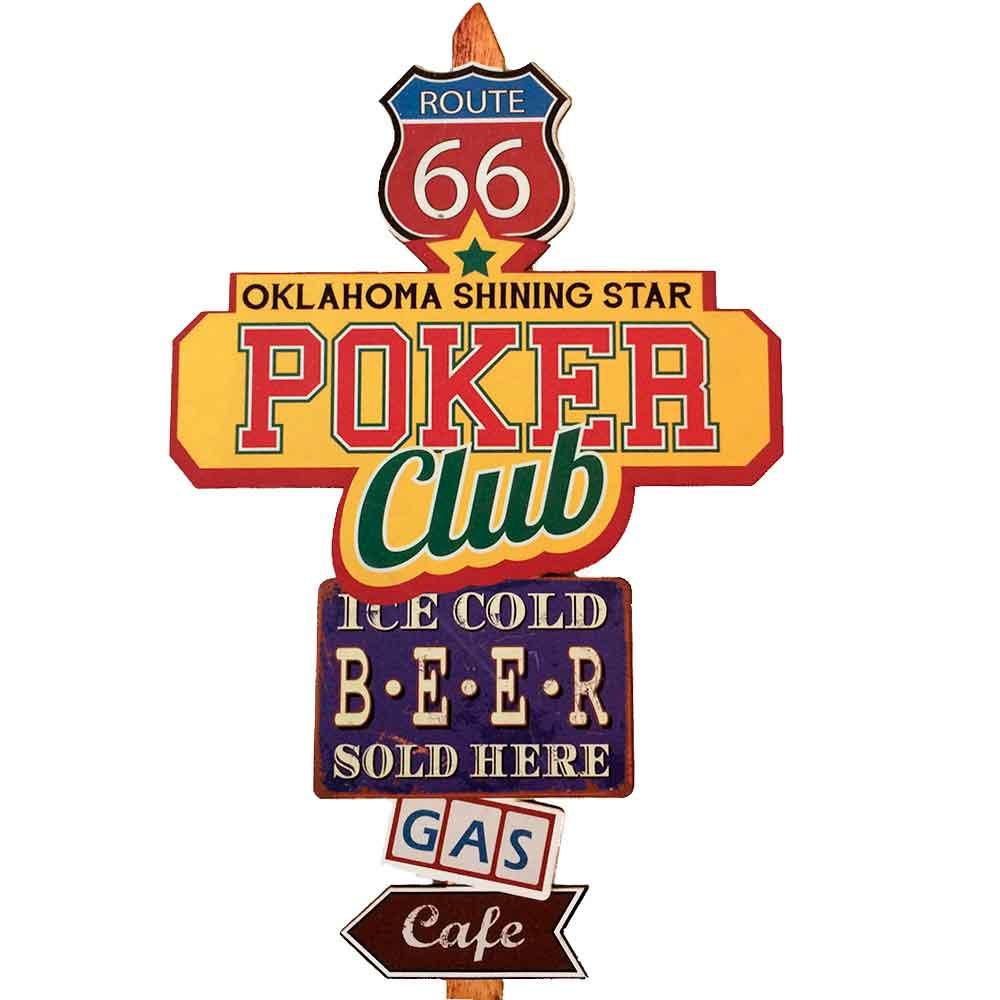 Placa-Mdf-Poker-Club