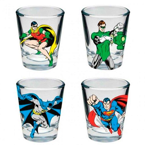 Conj-Shot-4-Pecas-Dc-Comics-Super-Herois