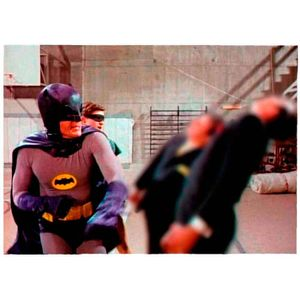 Quadro-Tela-Dc-Comics-Batman-E-Robin-Vintage