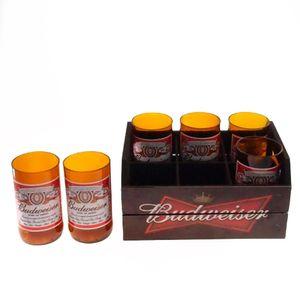 Engradado-Com-6-Copos-De-Vidro-Budweiser-Preto