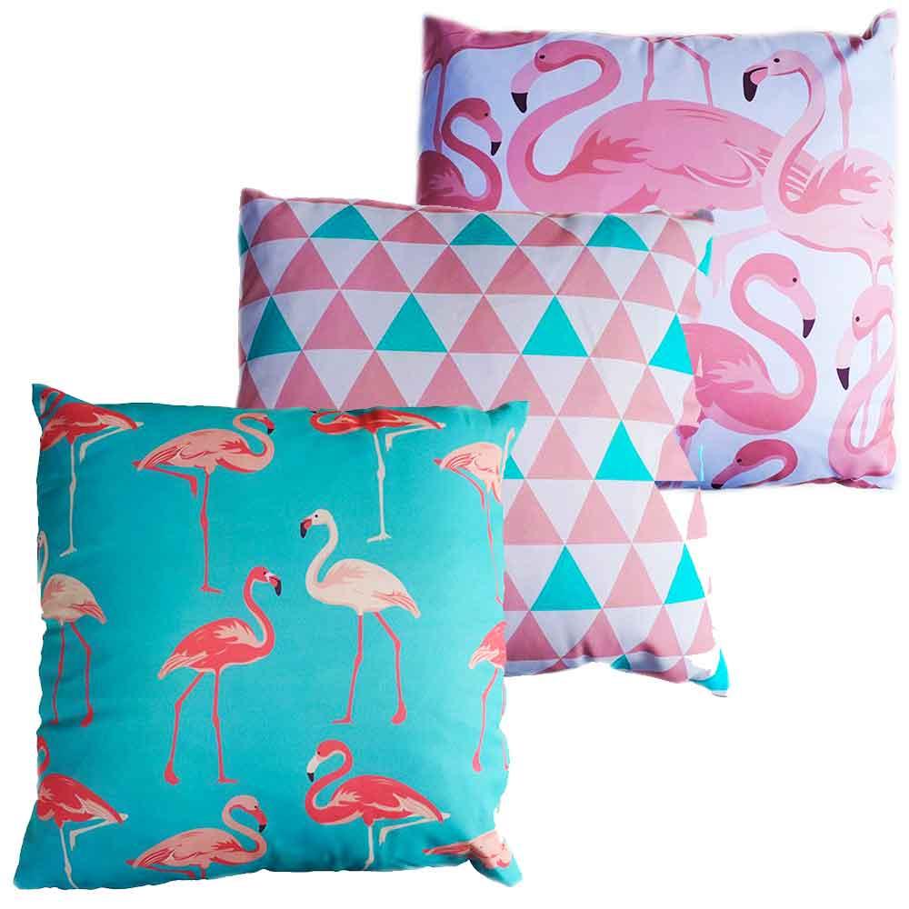 Conj-3-Almofadas-Com-Enchimento-Flamingos-Vintage-Summer