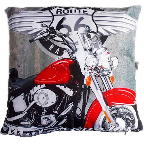 Almofada-Com-Enchimento-Motocicleta-Vermelha