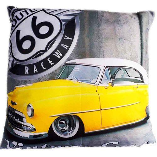 Almofada-Com-Enchimento-Carro-Vintage-Rota-66-Amarelo