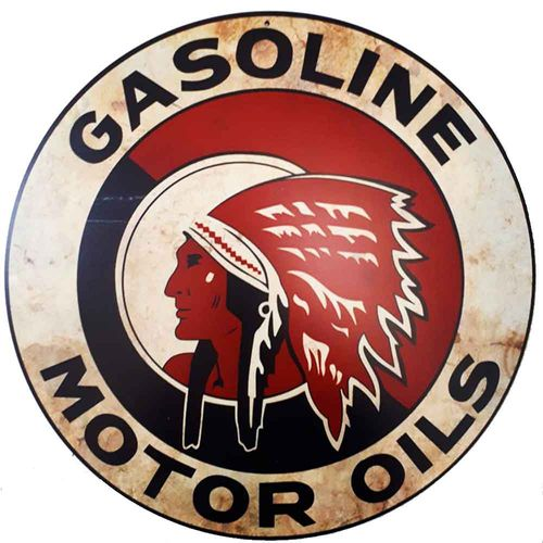 Placa-Decorativa-Mdf-Gasoline-Motor-Oils