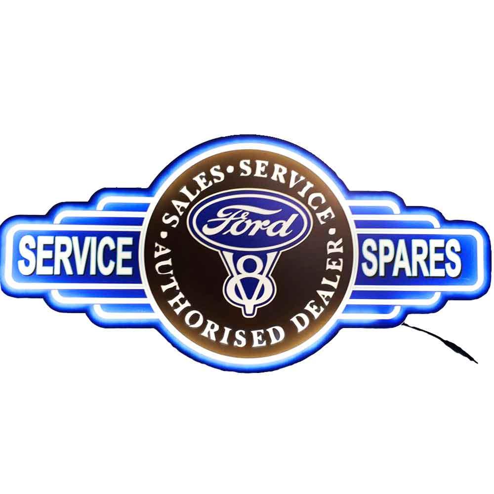 Placa-Decorativa-Mdf-Com-Led-Ford