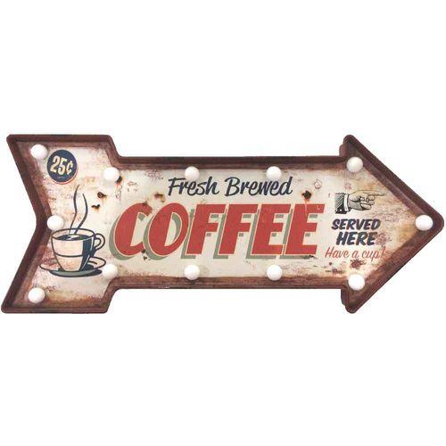 Placa-Luminosa-A-Pilha-Retro-Seta-Coffee