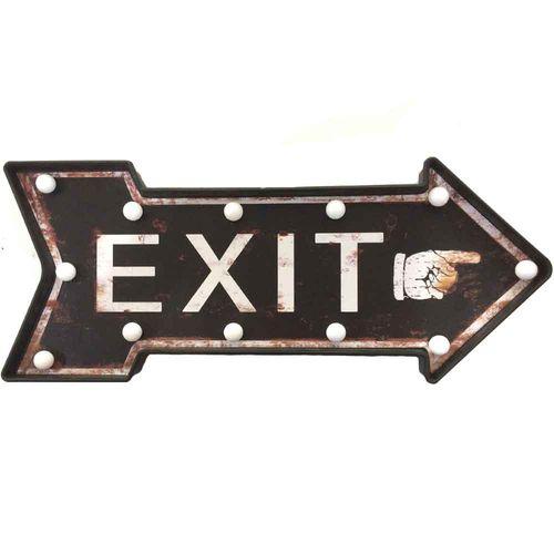 Placa-Luminosa-A-Pilha-Retro-Seta-Exit