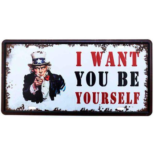 Placa-De-Metal-Decorativa-I-Want-To-Be-Yourself