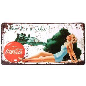 Placa-De-Metal-Decorativa-Coca-Cola-How-For-A-Coke