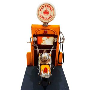 Miniatura-Porta-Retrato-Motocicleta-Red-Crow-Gasoline