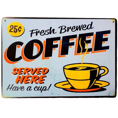 Placa-Decorativa-Mdf-Fresh-Brewed-Coffee