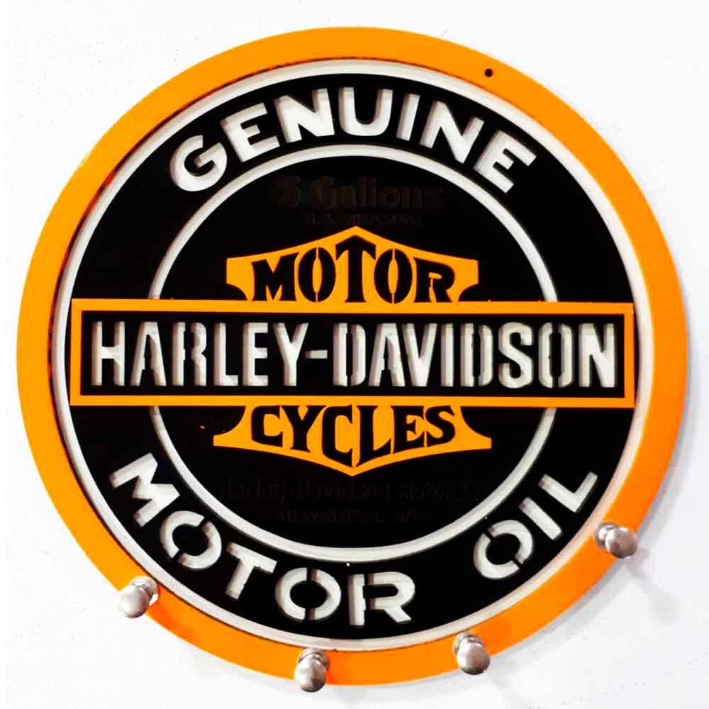Porta-Chaves-Mdf-Harley-Davidson-Genuine