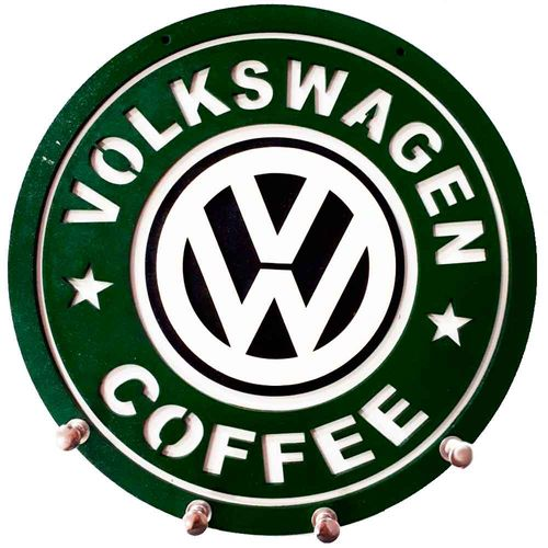 Porta-Chaves-Mdf-Volkswagen-Coffee