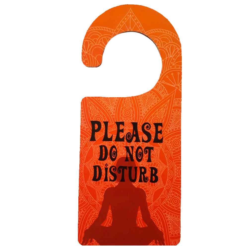 Aviso-De-Porta-Mdf-Please-Do-Not-Disturb-Laranja