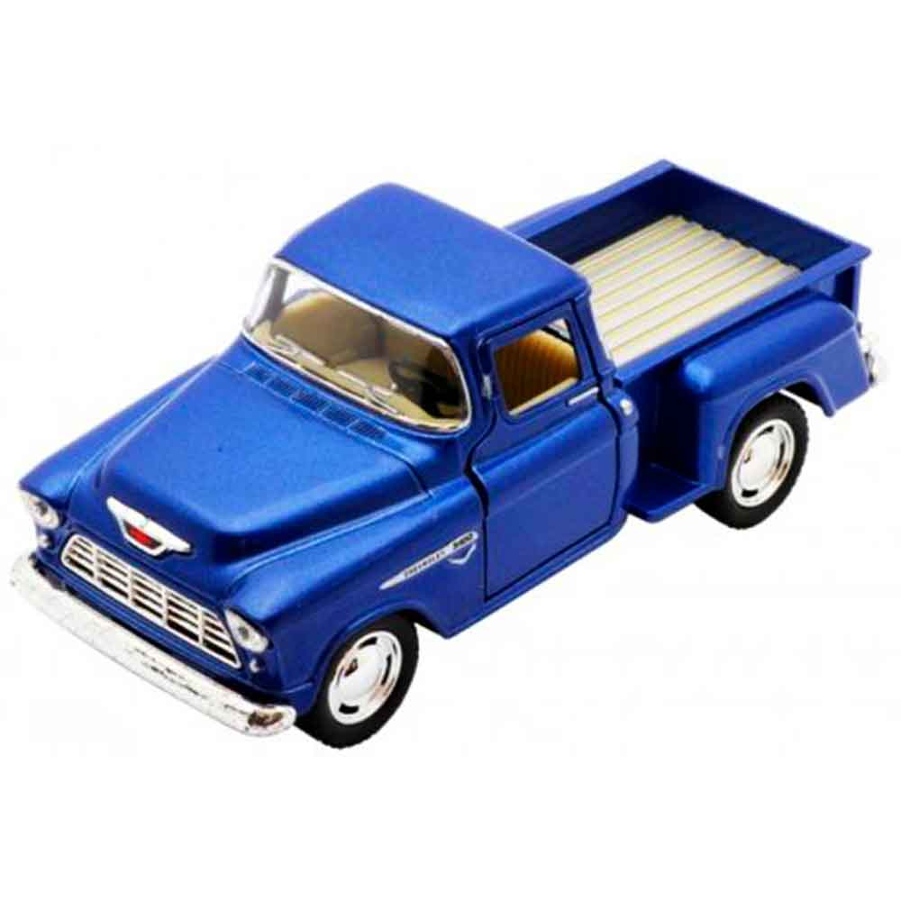 Miniatura-1955-Chevy-Stepside-Pick-up-Escala-1-32-Azul