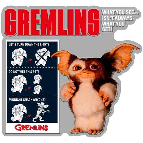 Placa-De-Metal-Recorte-Gremlins
