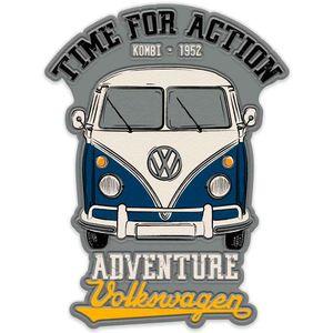 Placa-Metal-Recorte-Volkswagen-Kombi-Adventure-Cinza