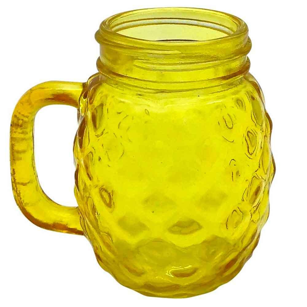 Mini-Copo-Jarra-Vidro-Abacaxi-Amarelo-135ml