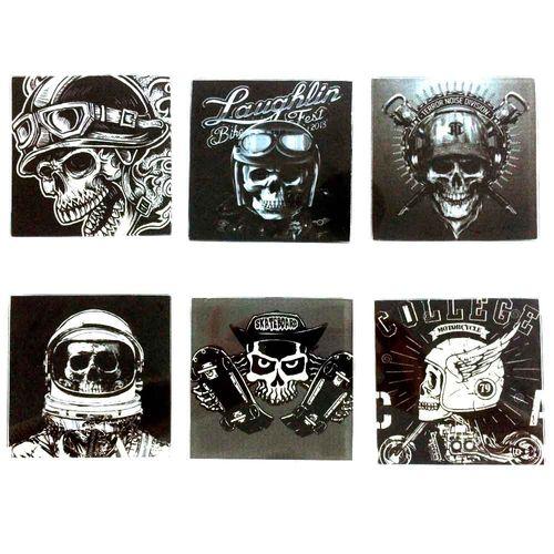 Kit-6-Porta-Copos-De-Vidro-Skull
