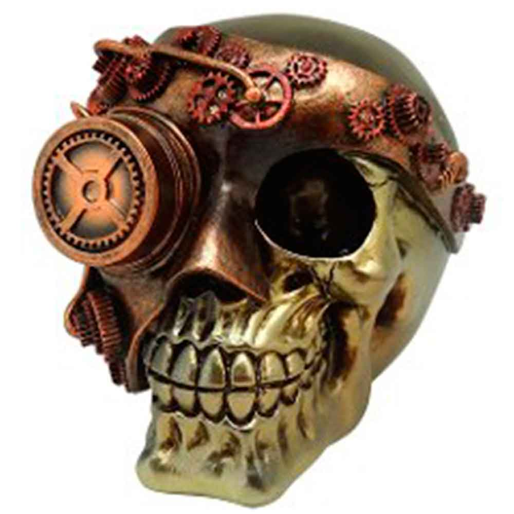 Caveira Resina Exterminador Mask Bronze - 5555 - versareanosdourados a7333f3734