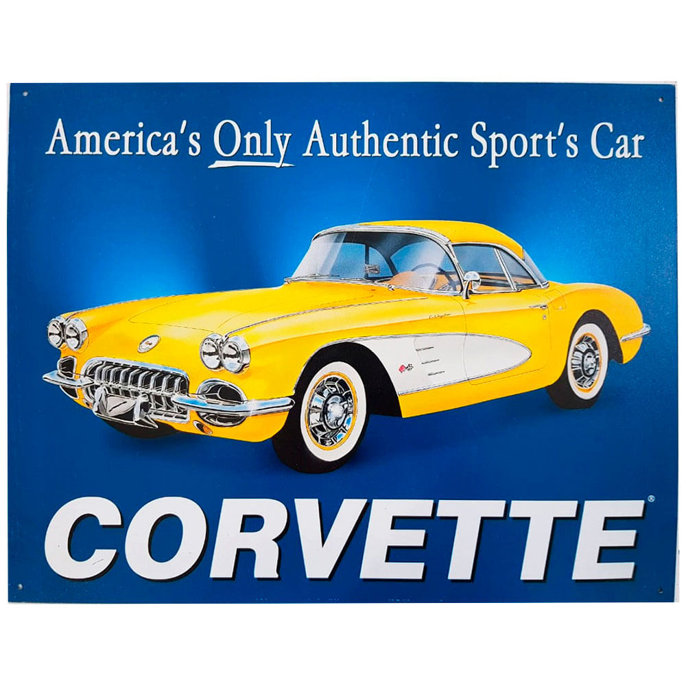 Placa-De-Metal-Corvette